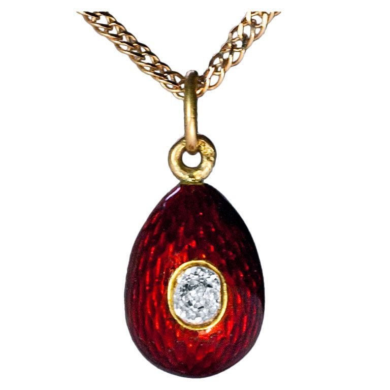 Carl faberge antique guilloche enamel egg pendant aloadofball Images
