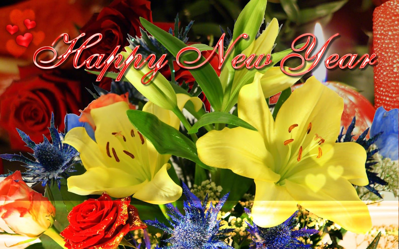 Happy New Year 2017 Flowers Images For Desktop Quotes Pinterest