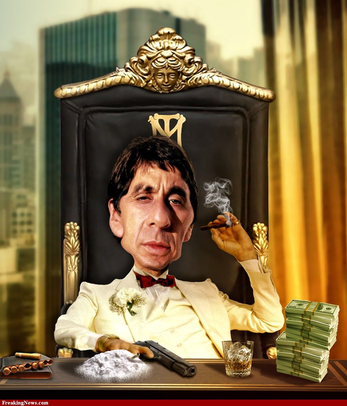 Scarface scarface pinterest al pacino movies and - Scarface cartoon wallpaper ...
