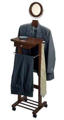 Standing Valet Clothes Hanger Organizer Bedroom Men Suit Rack Stand ...