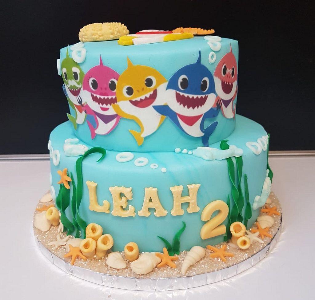 Baby Shark Cake Shark Birthday Cakes Baby Birthday Cakes Shark