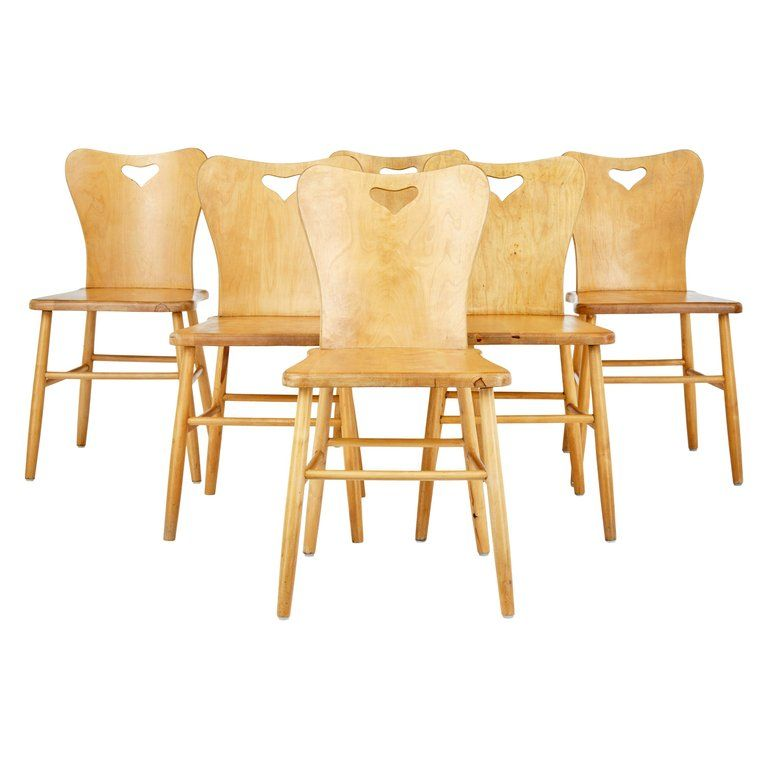 Set Of 6 Mid 20th Century Scandinavian Pine Dining Chairs In 2020 Dining Chairs Pine Dining Chairs Pine Chairs
