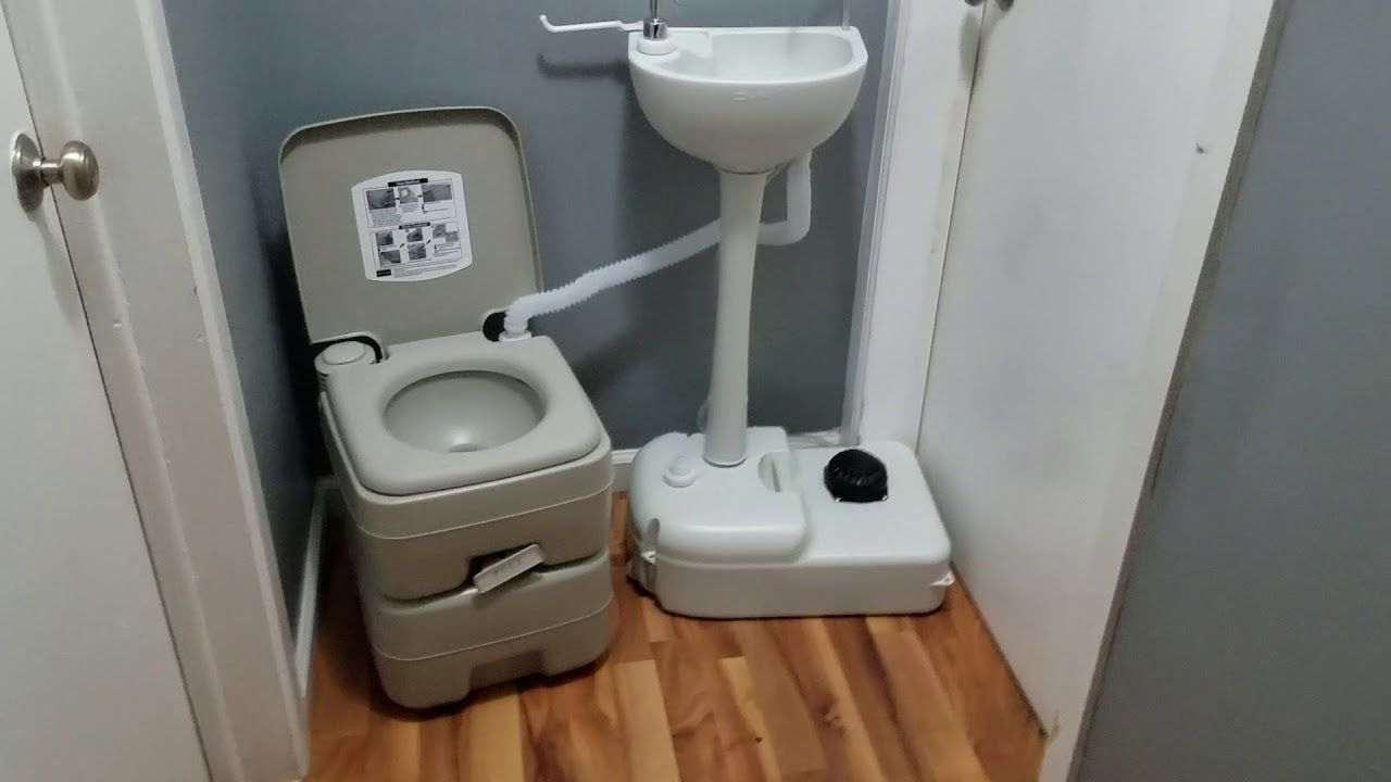 Portable toilet and sink combo! How does it work