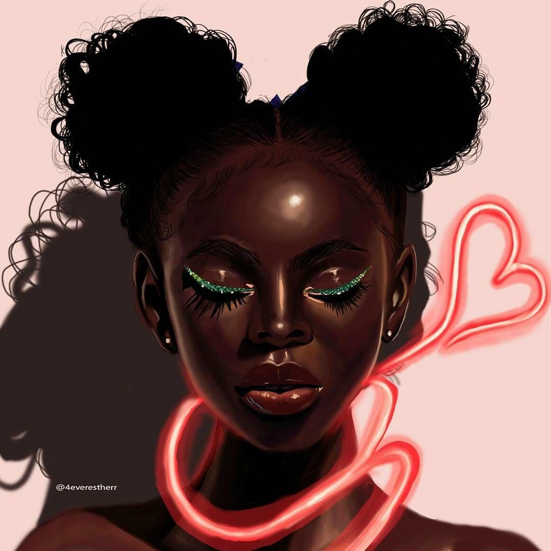 African American Girl Digital Art