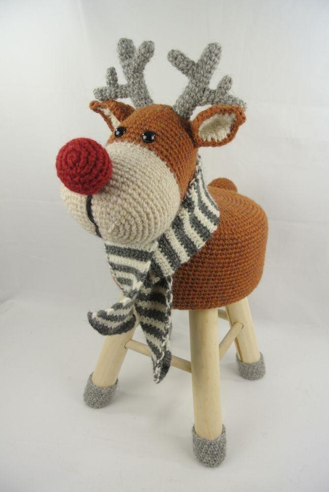 Dieren Kruk Haken Rendier Haakpret Schaap Pinterest Crochet