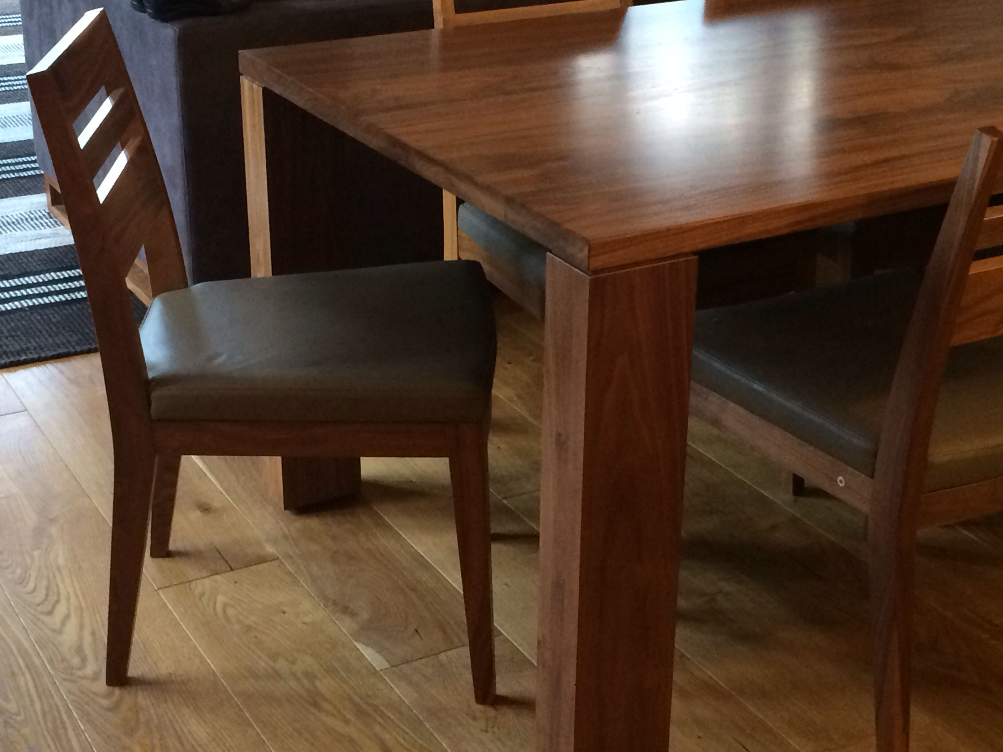 Walnut Dining Table And Felix Chairs By Ed Cruikshank