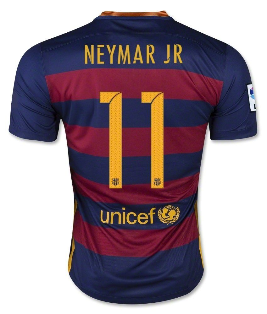 Barcelona Home Suarez  9   Messi  10   Neymar  11 Football Soccer Kids  Jersey with Free Shorts 2015-16 (Youth L (for age 10-12) 5e2ed6e1710e9