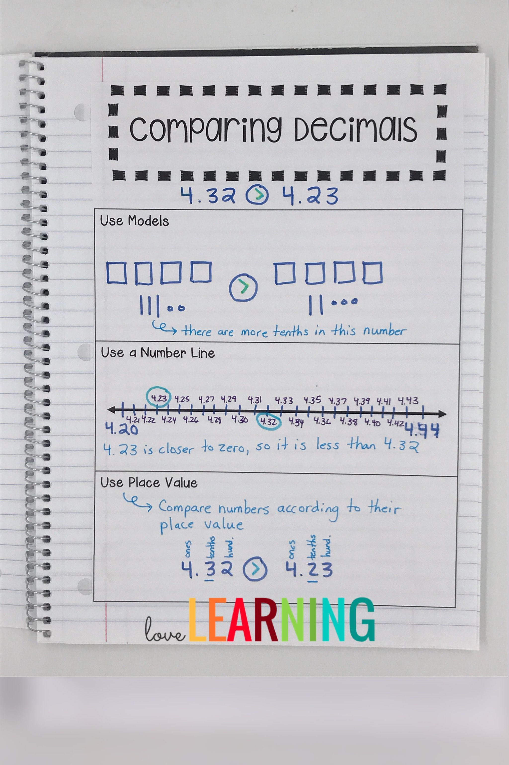 Decimals Interactive Notebook Covers 5th Grade Nbt