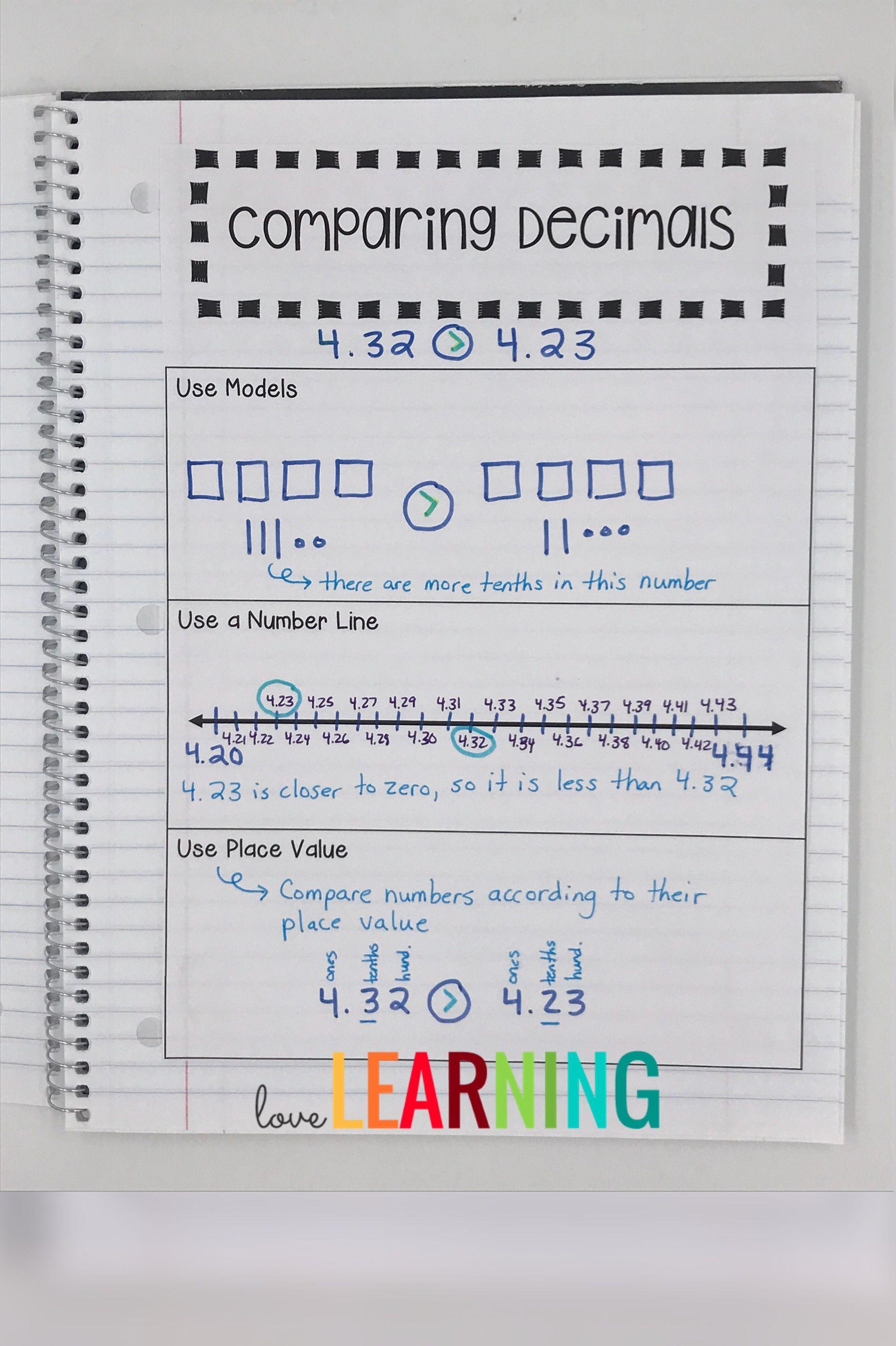 Decimals Interactive Notebook Covers 5th Grade Nbt