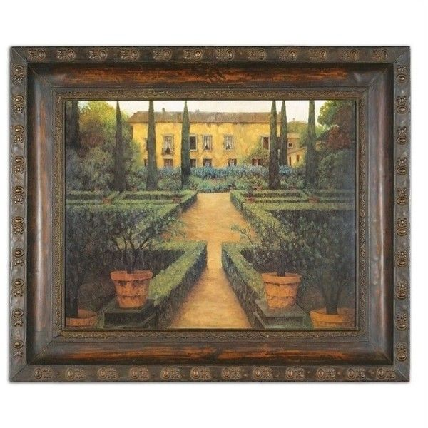 Uttermost garden manor metal framed art 317 ❤ liked on polyvore featuring home
