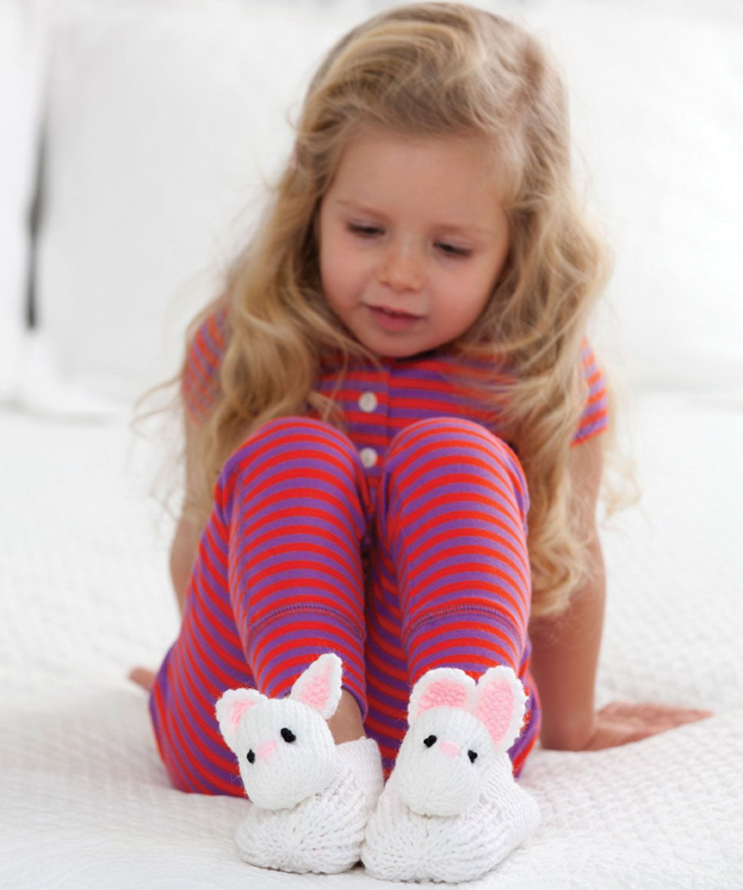 Treat a child to warm feet with these adorable bunny slippers! These ...