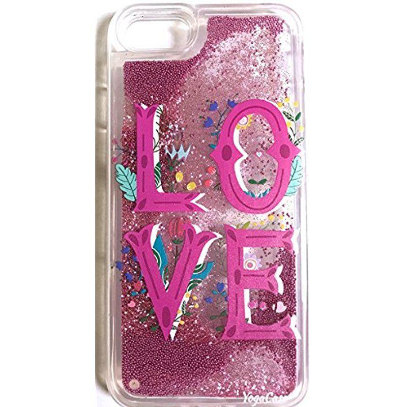 Iphone 7 case yogacase liquid glitter back protective