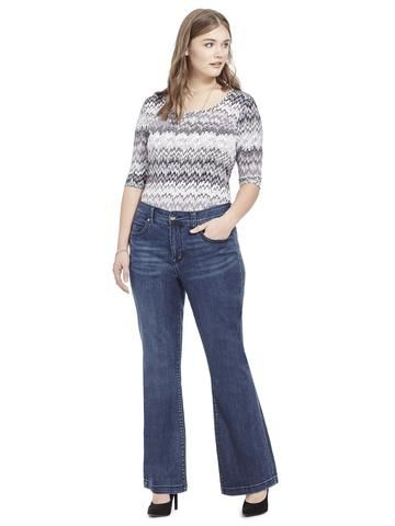 d10bd0bed42 Plus Size MELISSA MCCARTHY SEVEN7 Slim Flare Jean In Blissful Wash ...