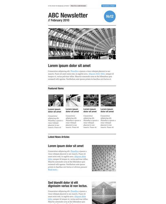 Free Newsletter Template  Q Newsletter