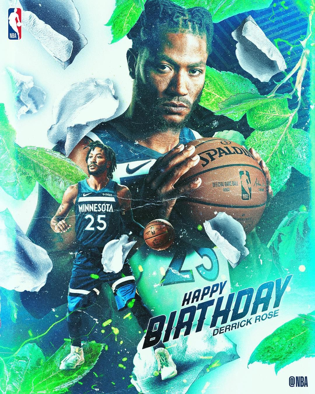 """afda845f7c71 NBA on Instagram  """"Join us in wishing Derrick Rose of the  timberwolves a  HAPPY 30th BIRTHDAY!  NBABDAY"""""""