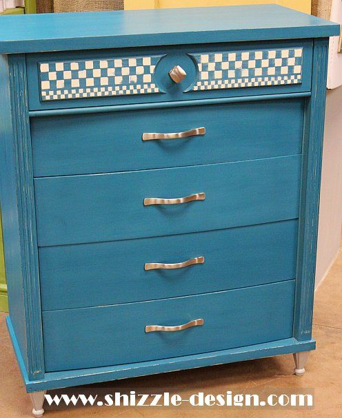 Peacock Blue Highboy Dresser Shizzle Design American Paint Company Not So  Shabby Holland Michigan Chalk Clay