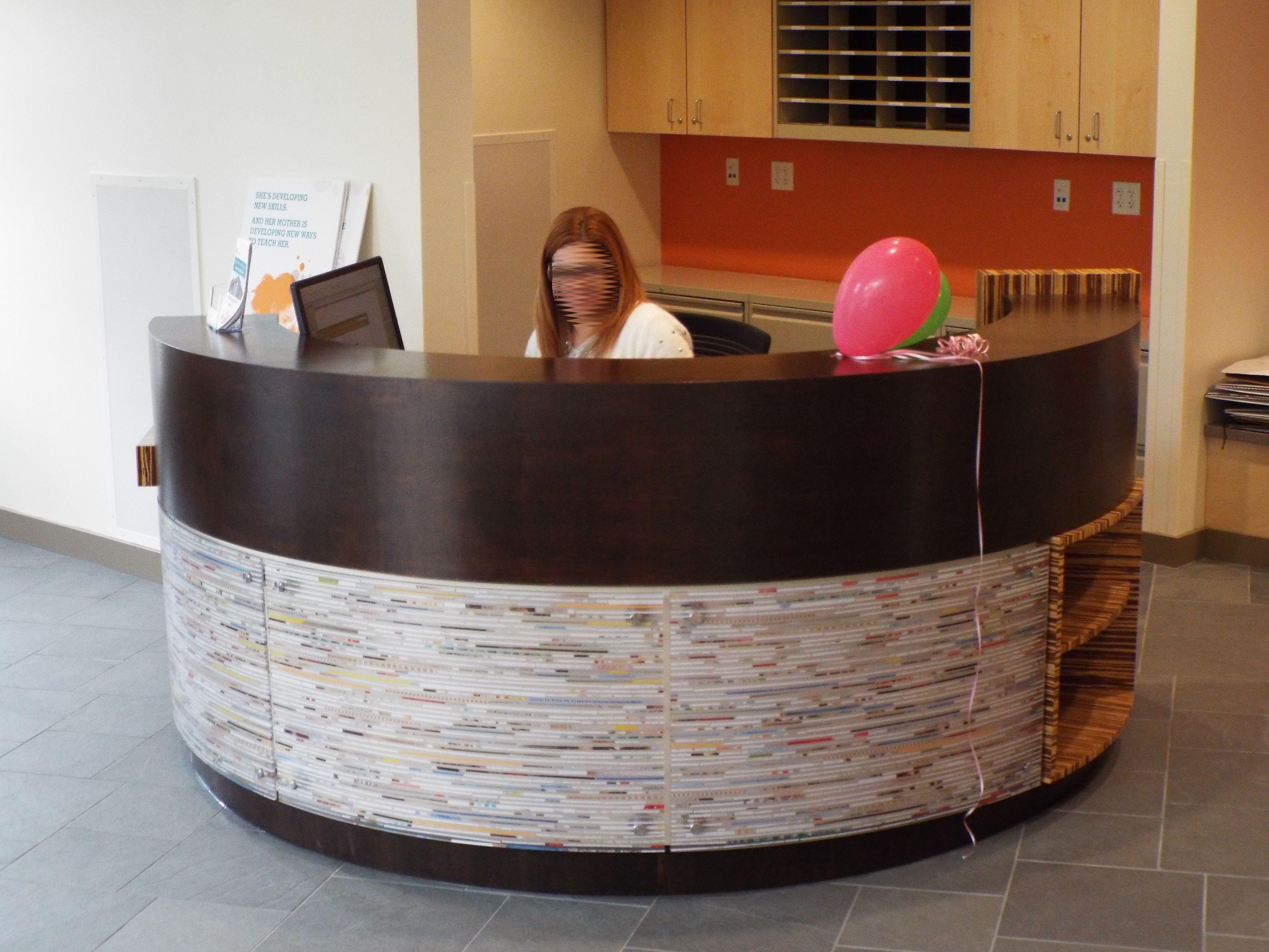 Custom Made Modern Circular Reception Desk