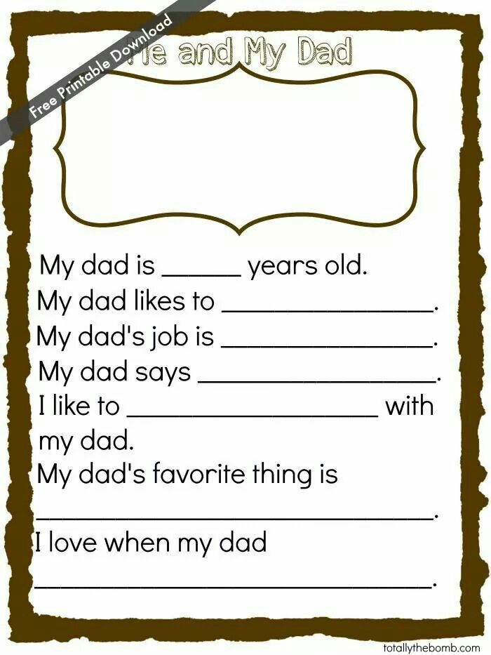 Father day questions. .cute | For the kids | Pinterest | Father ...