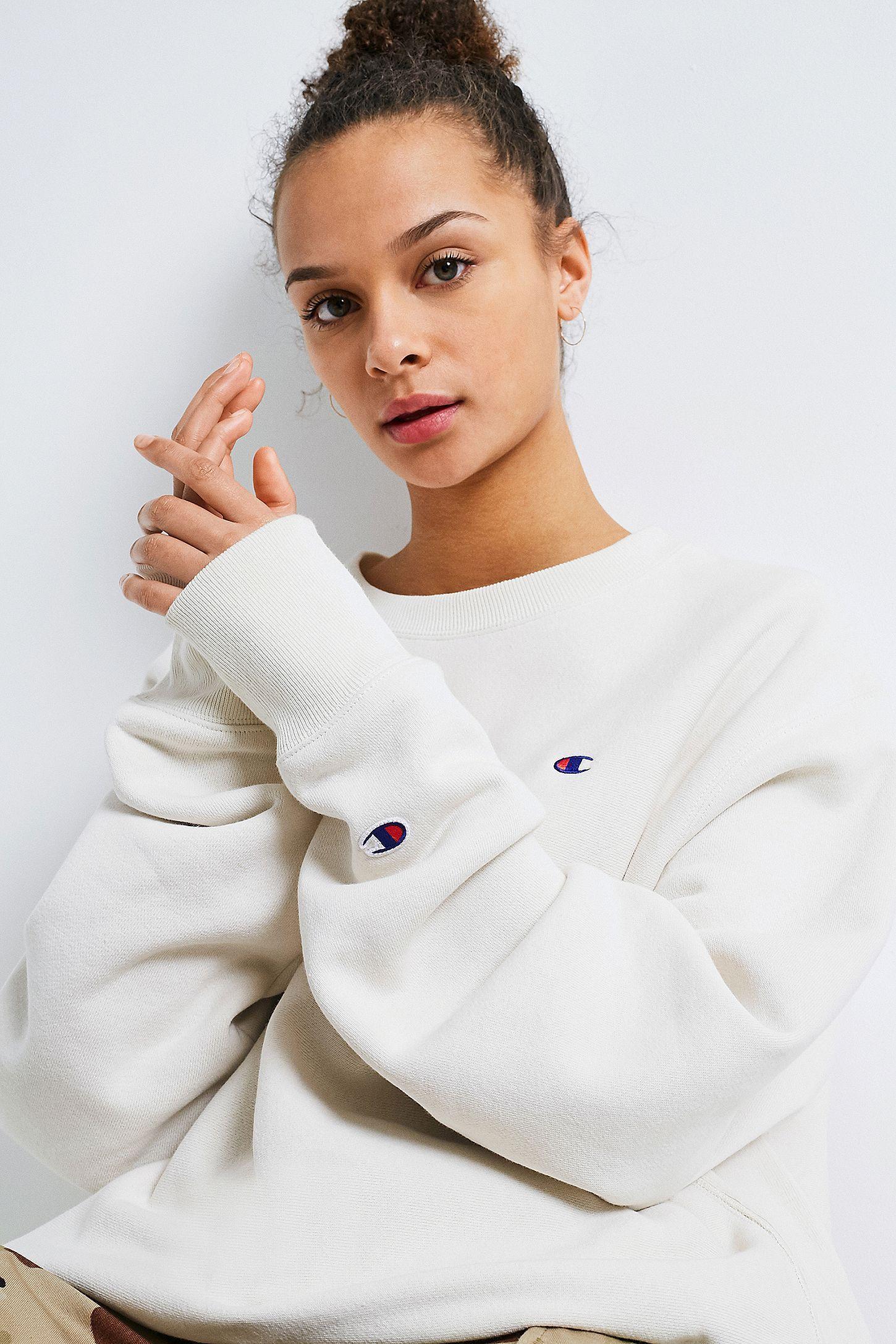 Champion S149 12 Oz Reverse Weave Fleece Crew Crew Neck Sweatshirt Oversized Crewneck Sportswear Fashion [ 2175 x 1450 Pixel ]