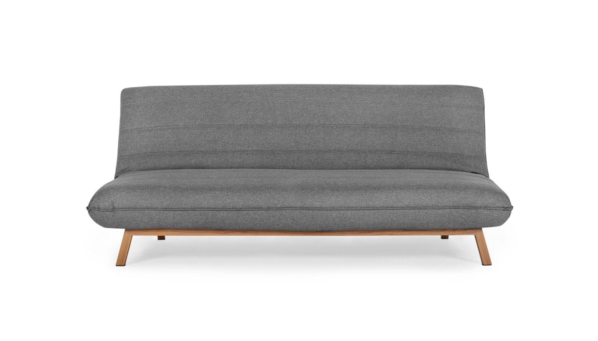 Capri 3 Seat Click Clack Sofa Bed Light Grey 3 Seat Sofa Bed