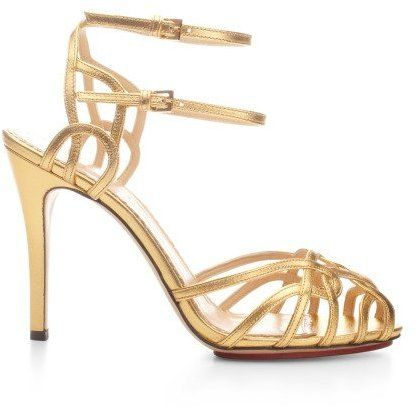 Charlotte Olympia Ursula Metallic Leather Sandals Gold on shopstyle.com