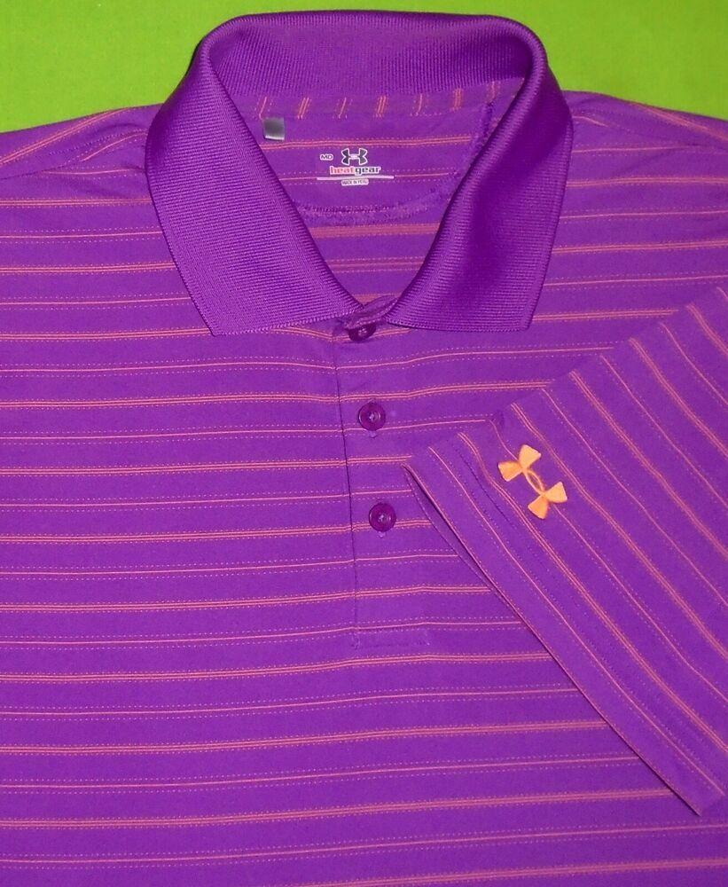 9309e60c Under Armour Golf Polo Shirt UA HeatGear w/Sponsor Logo on Sleeve S/S Men  Medium #Underarmour #PoloRugby