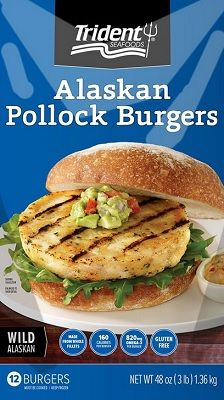 Trident launches frozen alaskan pollock burgers at select for Costco frozen fish