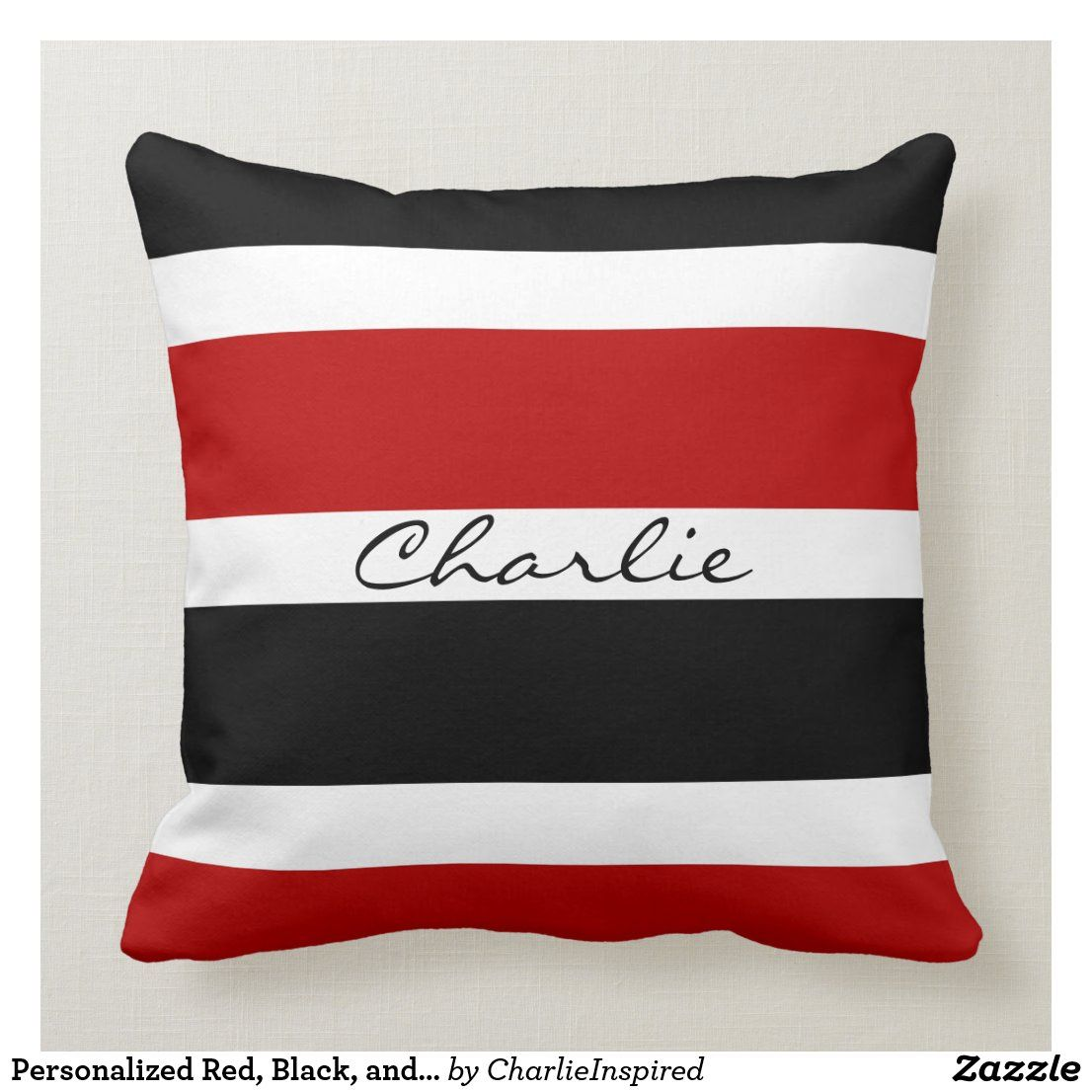 Pin Na Doshci Black Red White Pillows Cushions