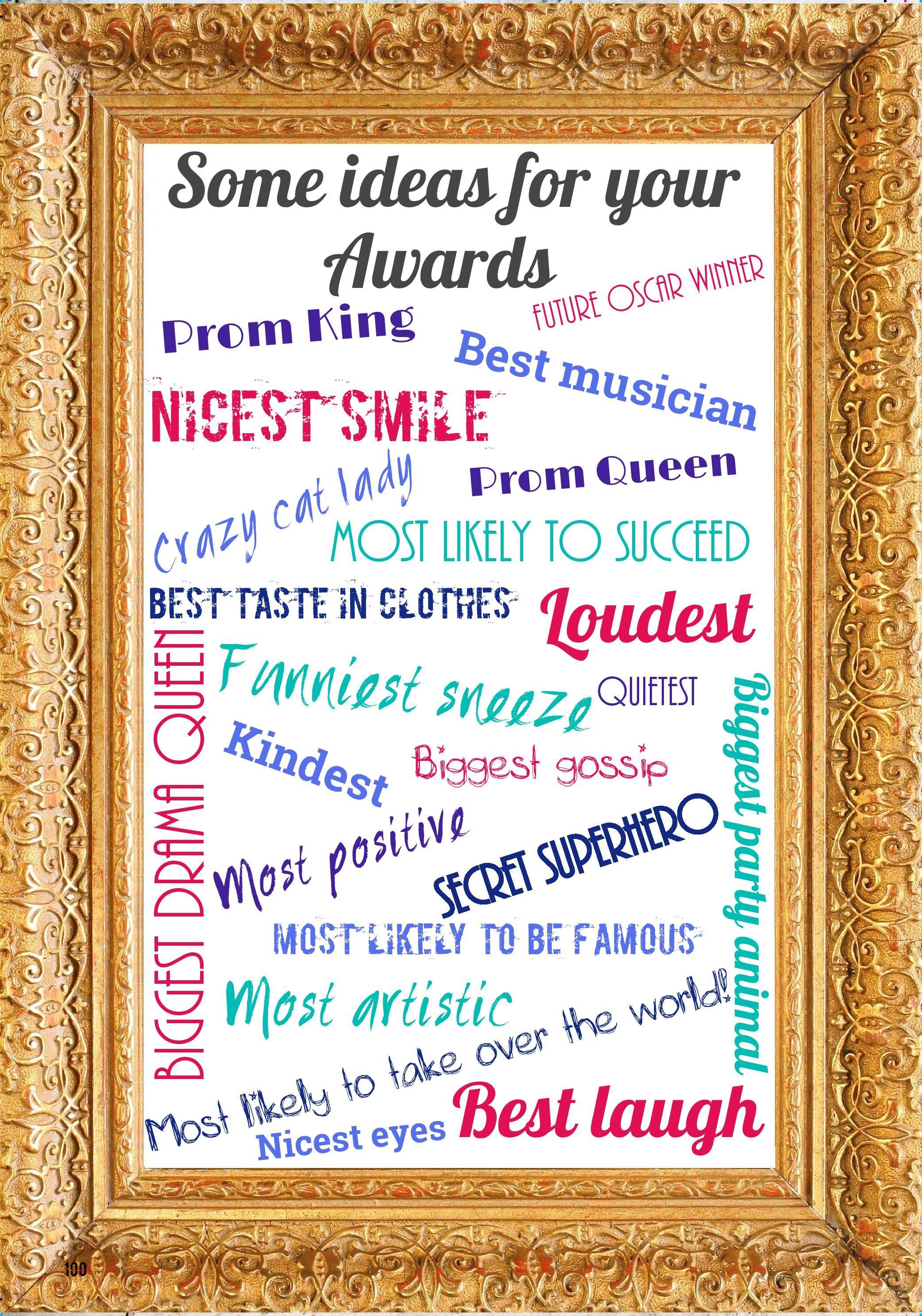 Awards Ideas For Blog Page 001 Funny Awards Award Ideas Fun Awards Fun award ideas for students