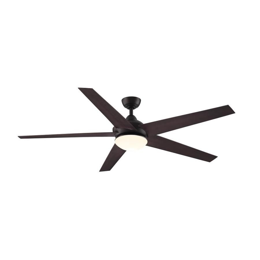 Fanimation Studio Collection Covert Aged Bronze Indoor Outdoor Downrod Mount Ceiling Fan With Light Kit And Remote