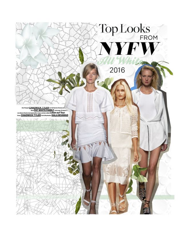 """""""All White"""" by likeaprism ❤ liked on Polyvore featuring moda, COVERGIRL, EMAC & LAWTON, OKA, CB2, WhiteOnWhite, Prism i nyfwrunwaytrends"""