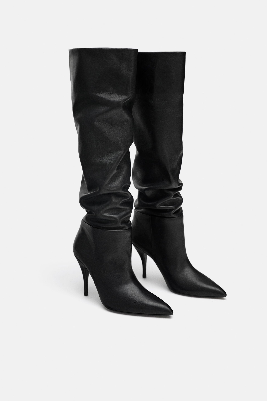 56d9b5d800e BOTA TACÓN PIEL SOFT in 2019 | BOOTS | Leather high heel boots ...