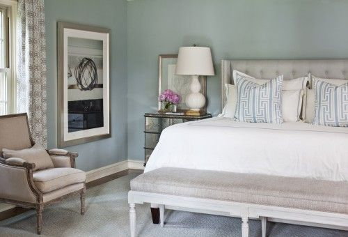 Blue, grey, white, tan bedroom Bedrooms to dream about Pinterest
