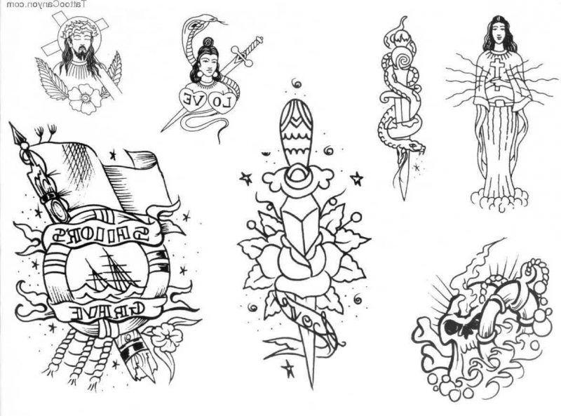 Old School Tattoo Motive 24 Kostenlose Vorlagen 7