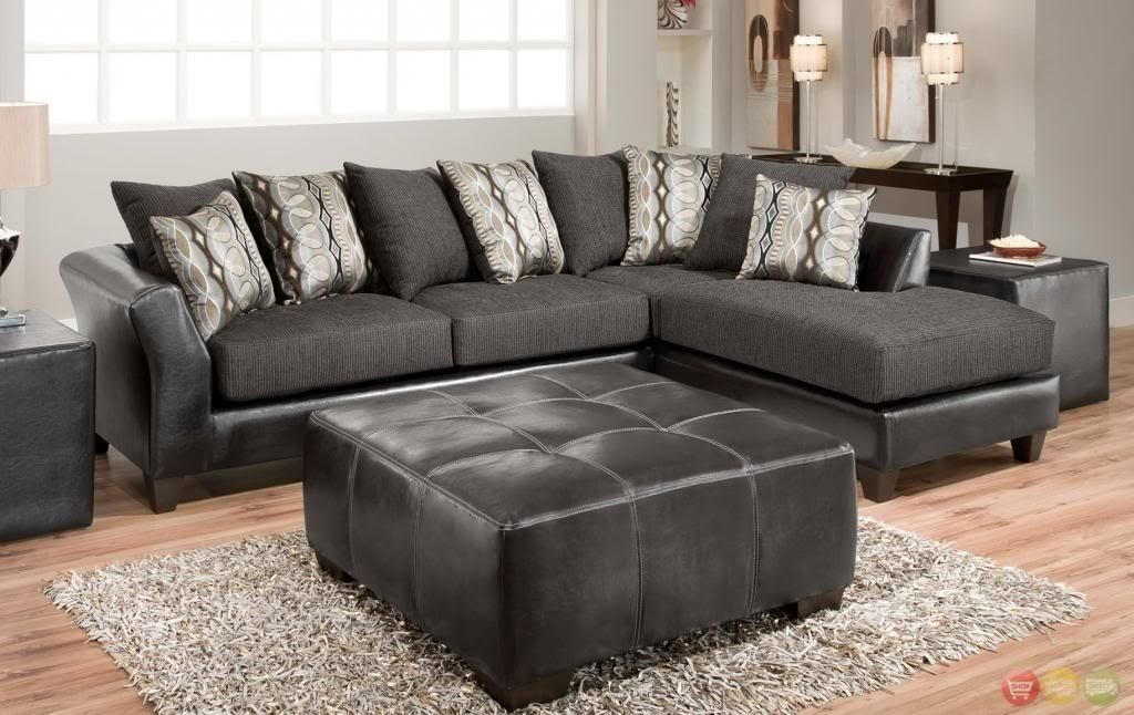 Charcoal Gray Sectional Sofa With Chaise Lounge Sectional Sofa