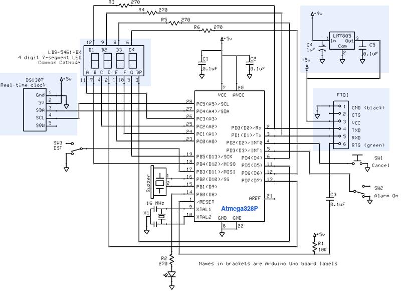 Gammon Forum : Electronics : Microprocessors : Alarm clock