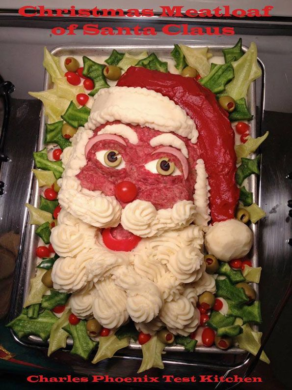 Christmas Meatloaf.Santa Claus Meatloaf Tacky Christmas Party Ideas Gross
