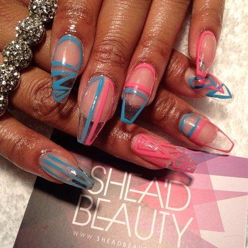 Clear Nail Design Gorgeous Nails Pinterest Nails Nail