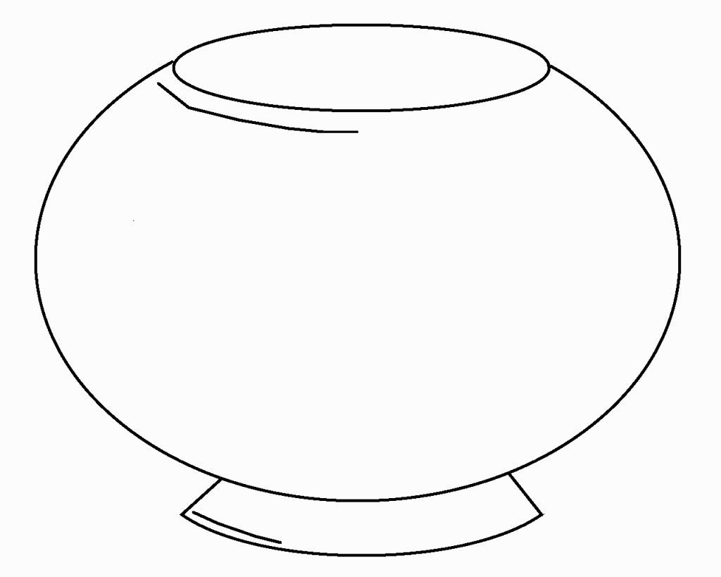 Fish Bowl Coloring Page Coloring Pages Fish Coloring Page American Flag Coloring Page