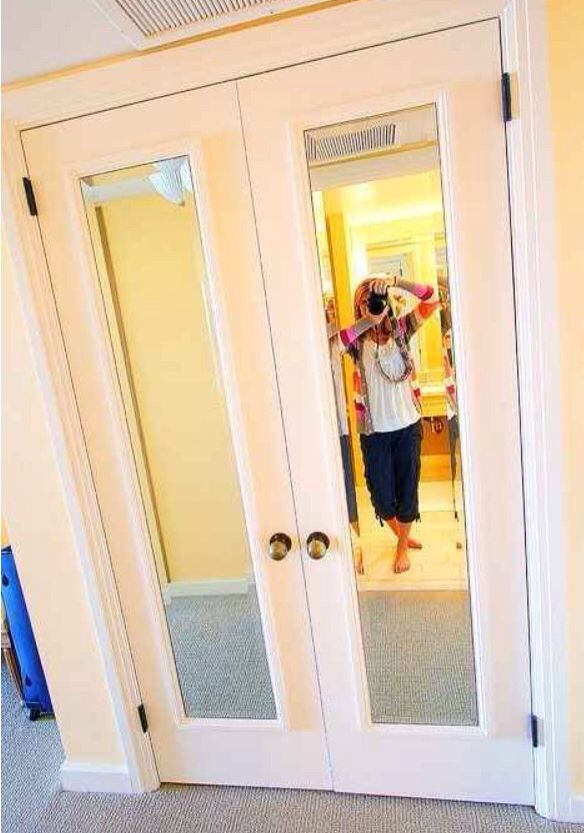 Put mirrors on closet doors painted to match | Bedroom | Pinterest ...