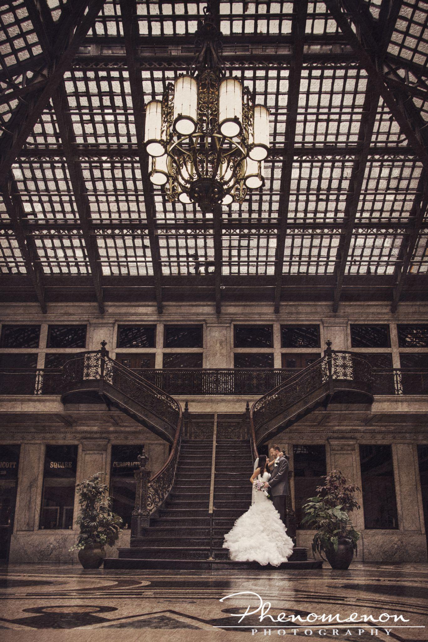 Buffalo Wedding Photographer Phenomenon Photography Ellicott Square Building