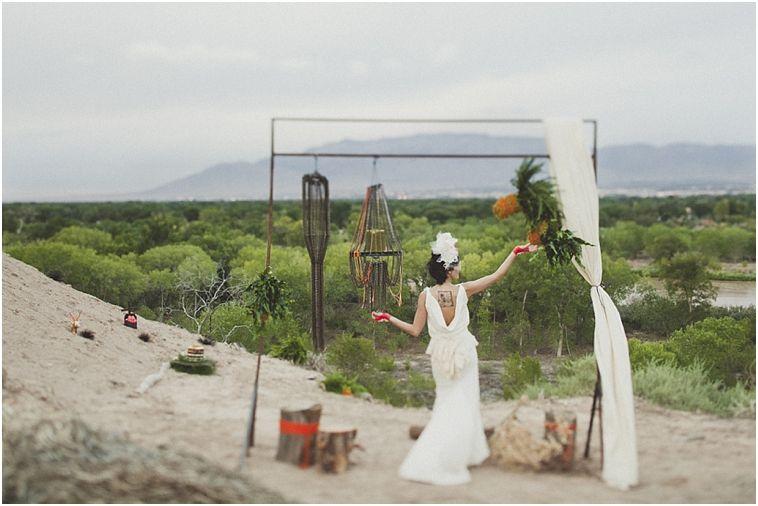mountain views + handmade dress :: an eco industrial styled shoot :: albuquerque, new mexico » Joni Bilderback Photography