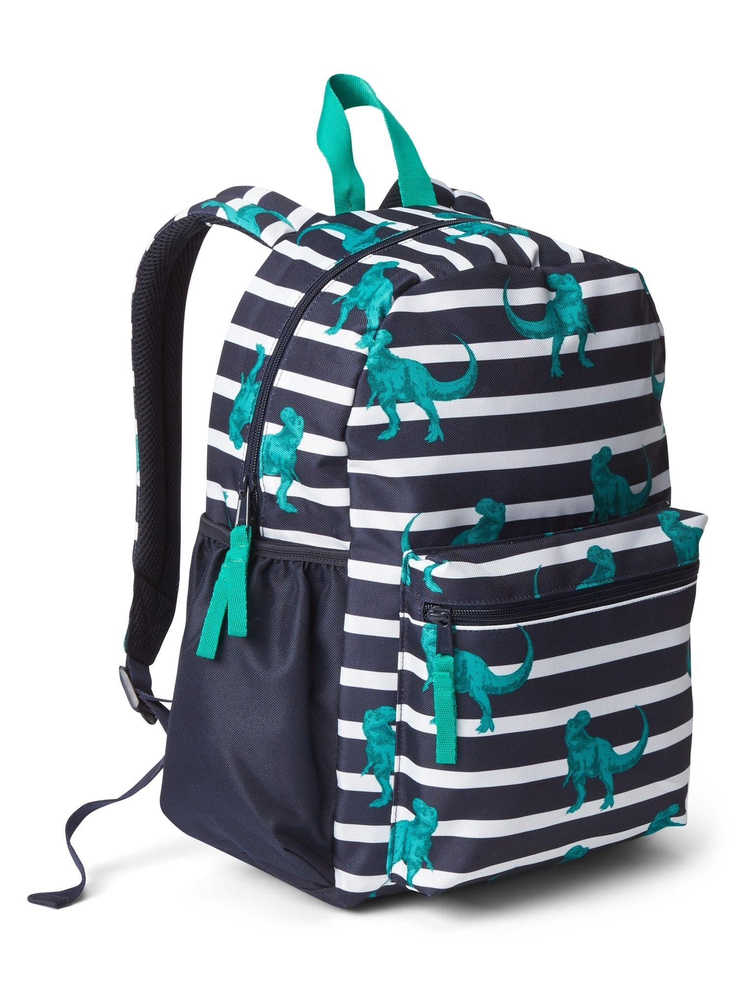 b22703cfddf0 Gap Boys Stripe Dino Backpack - True Indigo One Size