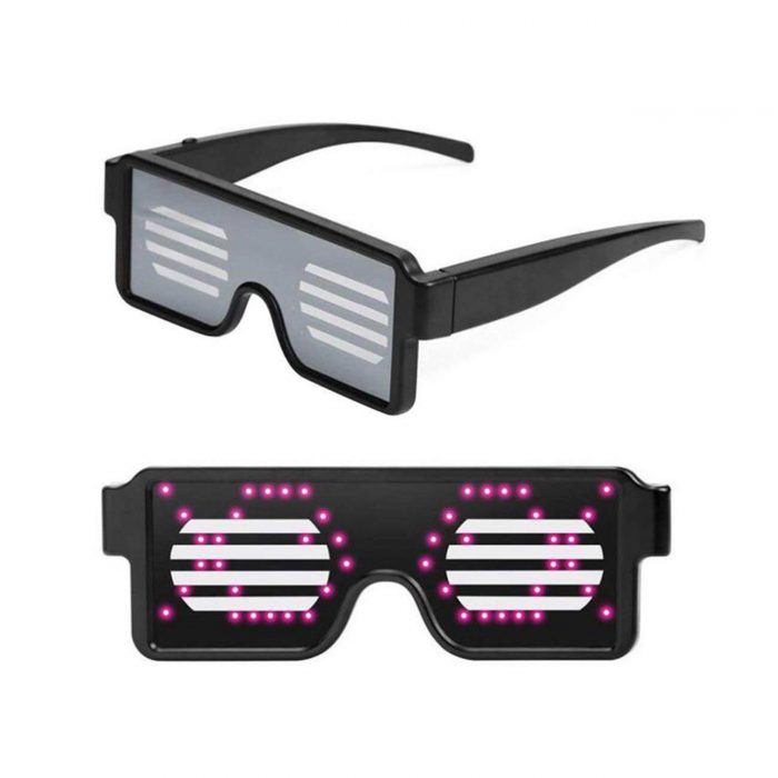 Gflai Pixel Led Glasses Display Led Sunglasses Light Up Eyewear Party Sunglasses Sunglasses Display Led Sunglasses