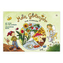Malbuch Mein Gartenjahr #GrätzVerlag #OutiKaden