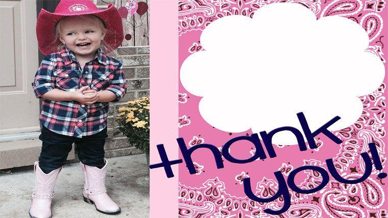 Farm Fresh Birthday Photo THANK YOU (Boy Girl Vintage Tractor - fresh birthday invitation baby girl