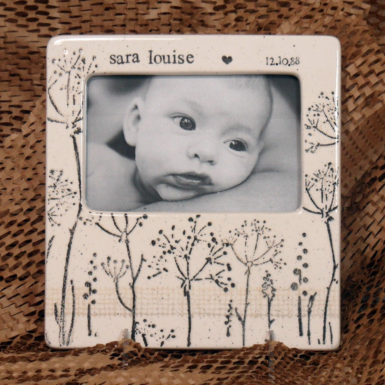 Babys breath photo frame pottery pottery painting ideas and babies babys breath photo frame negle Images