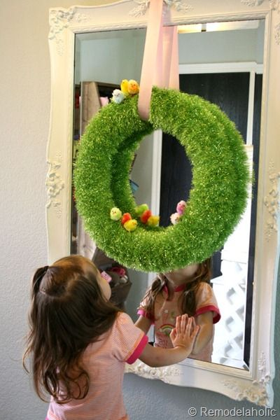Simple Easter Wreath! #easter #spring #wreath