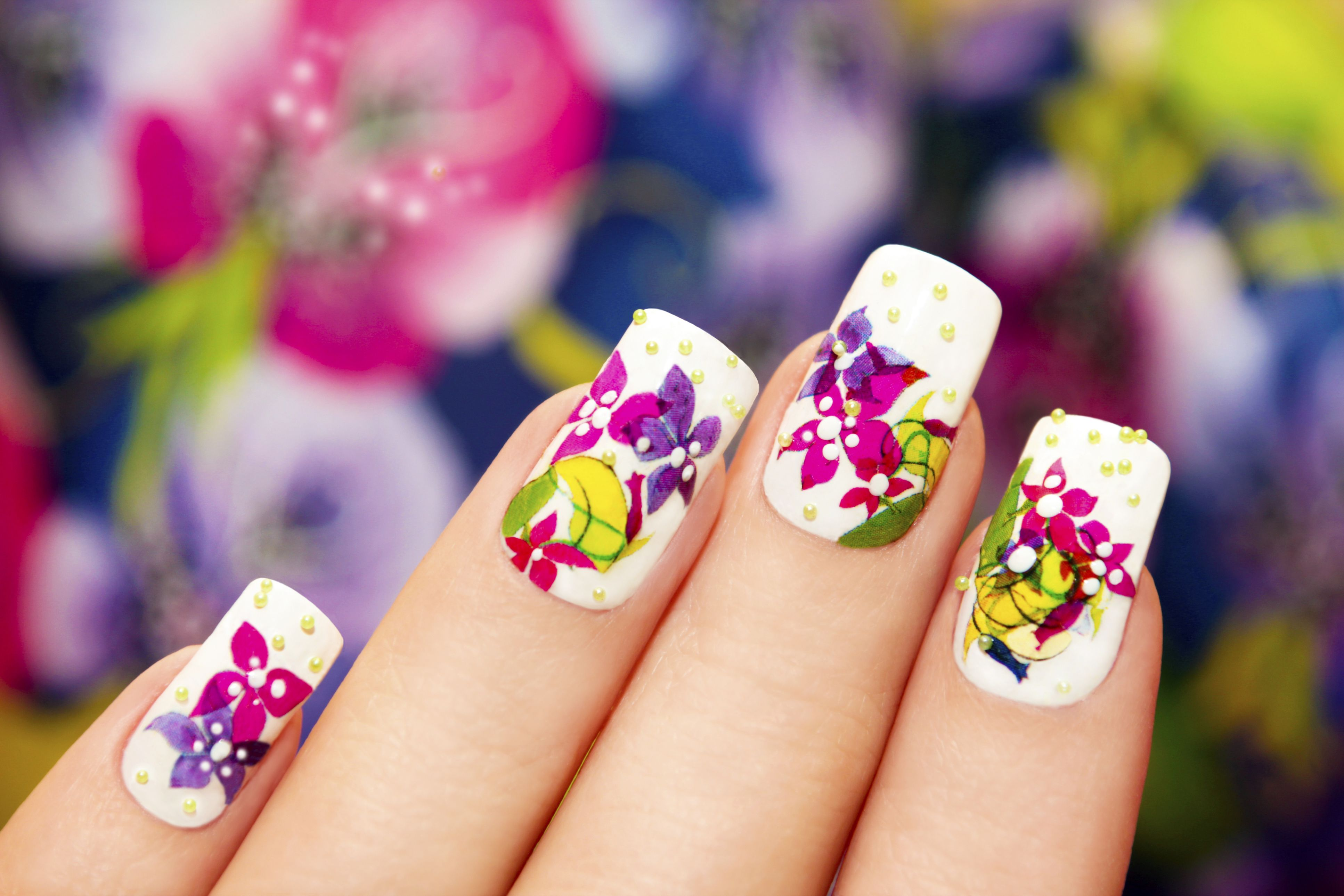 The Hidden Dangers Of Acrylic Nails And Why You Might Want To Re Think Getting Them Floral Nails Floral Nail Designs Floral Nail Art