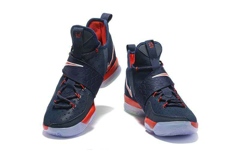 67b8dc143f5 Spring Summer 2018 How To Buy 2018 Lebron James Shoes Midnight Navy Sport  Red Lebron 14 XIV